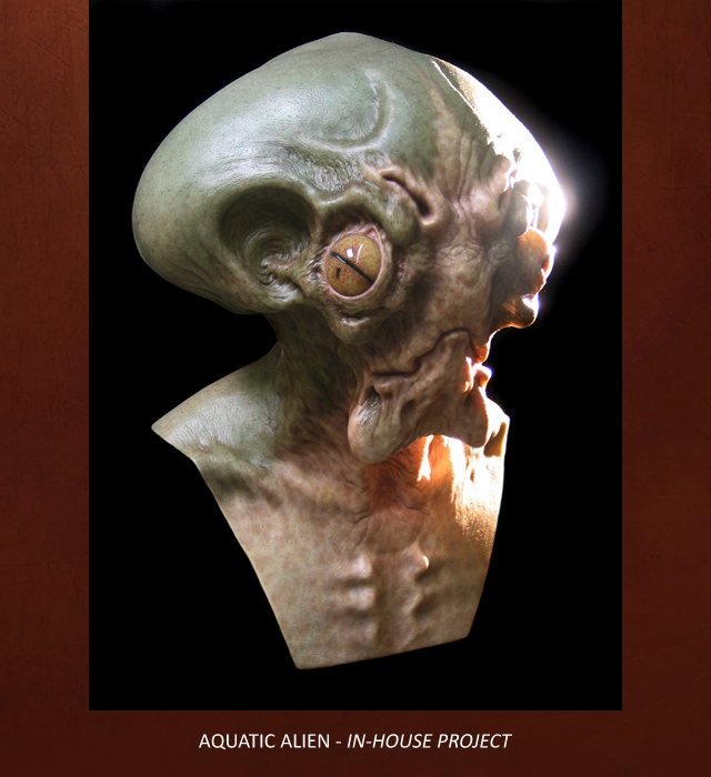 Creative Character Engineering Animatronic Alien Mask