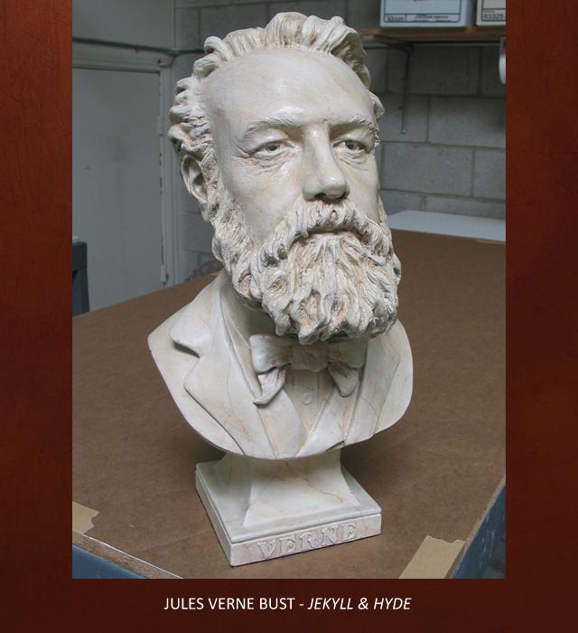 Creative Character Engineering Jules Verne Bust Jules